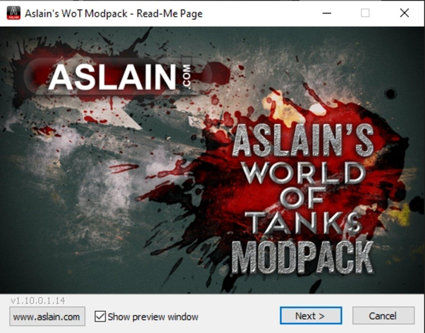 How to install Aslain's Modpack WoT.