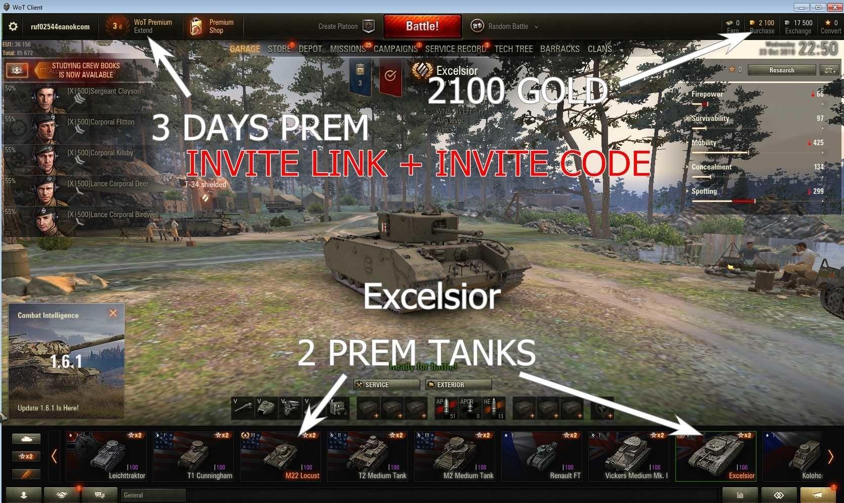prem tanks and premaccount wot