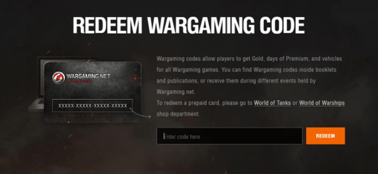 redeem wg code