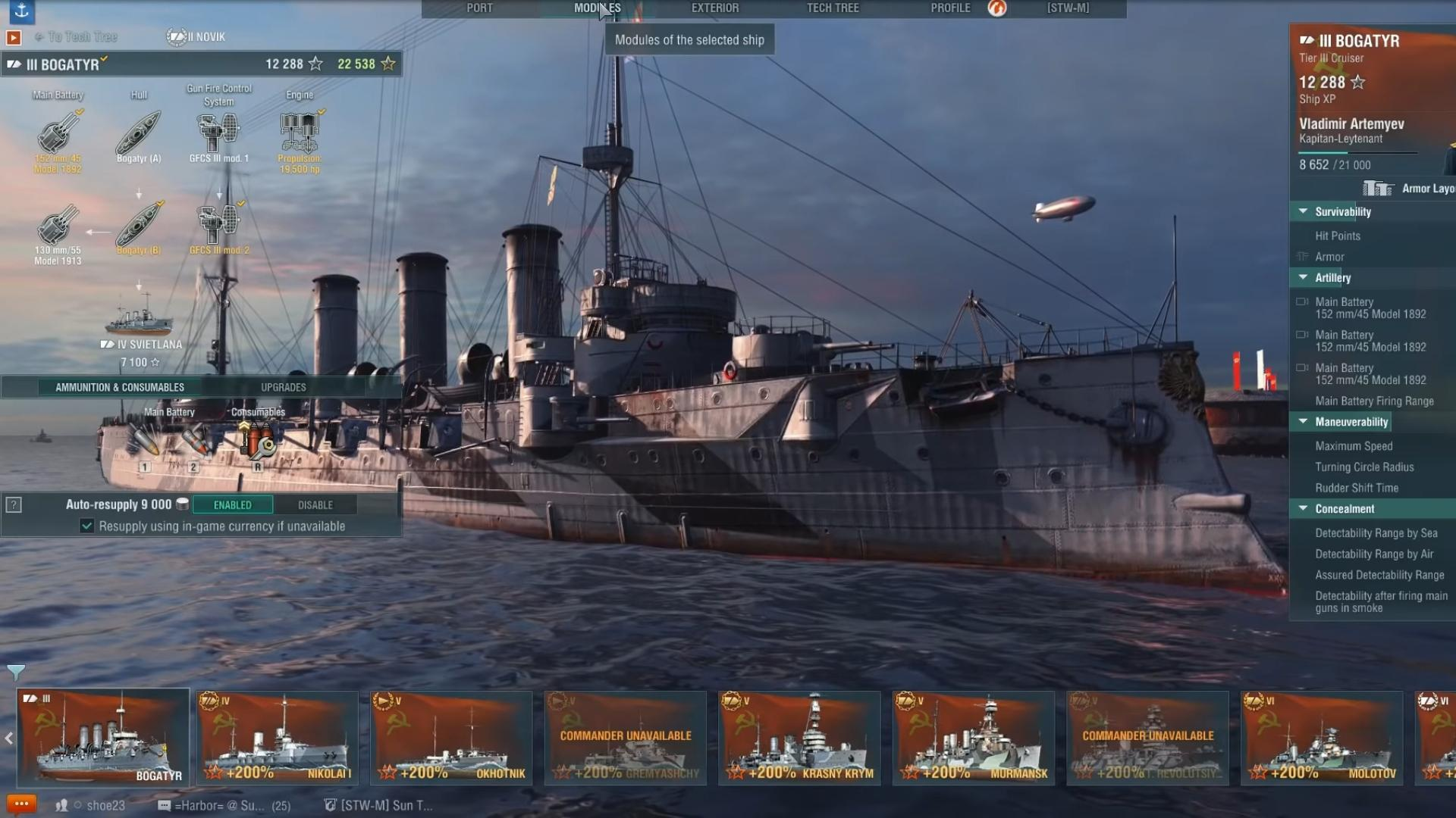 Russian Cruiser Bogatyr In World Of Warships